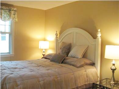 Falmouth Cape Cod vacation rental - The north bedroom has a very comfy queen bed and a tv.