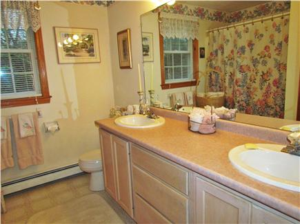 Chatham Cape Cod vacation rental - One of the two full baths -  with tub and two sinks