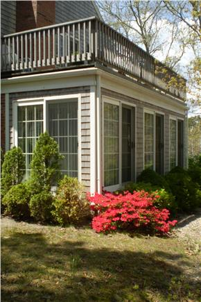 Chatham Cape Cod vacation rental - Three-season room with  5 sliders & upper deck off Master BR