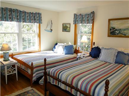Chatham Cape Cod vacation rental - Upstairs bedroom with two full beds, TV  & A/C