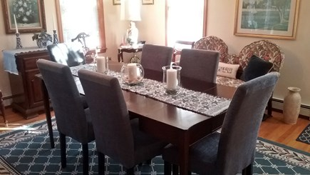 Chatham Cape Cod vacation rental - Dining Room, table seats 6  w/ A/C unit