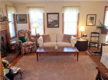 Chatham Cape Cod vacation rental - Portion of fireplaced Living Room w/AC unit