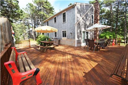 Eastham Cape Cod vacation rental - Back corner view of the sizable deck