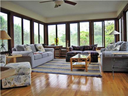 East  Sandwich-Sandy Neck Beac Cape Cod vacation rental - Sunny Family Room opens up to large deck