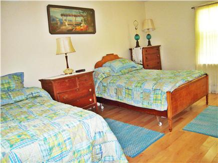 East  Sandwich-Sandy Neck Beac Cape Cod vacation rental - 1st floor Bedroom w/1 Double & 1 Twin, Bathroom adjacent.