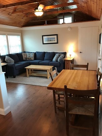 Wellfleet Cape Cod vacation rental - Living space with dining table