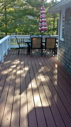 South Chatham Cape Cod vacation rental - Patio set on wrap around deck