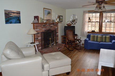 Eastham Cape Cod vacation rental - Living room with Fireplace