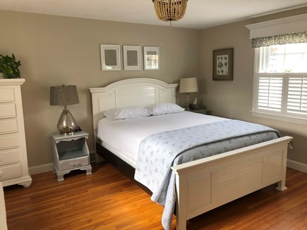 West Harwich Cape Cod vacation rental - This spacious master & upstairs queen bedroom have TV.
