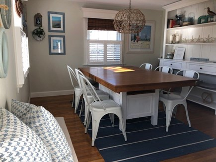 West Harwich Cape Cod vacation rental - The dining room comfortably seats 8 for meals and games.
