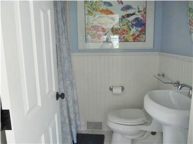 West Harwich Cape Cod vacation rental - Third renovated bath has roomy shower.