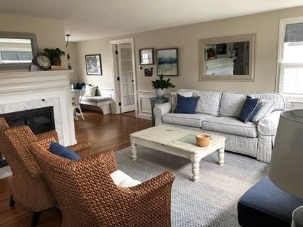 West Harwich Cape Cod vacation rental - Sun-filled living room is the perfect place to entertain family.