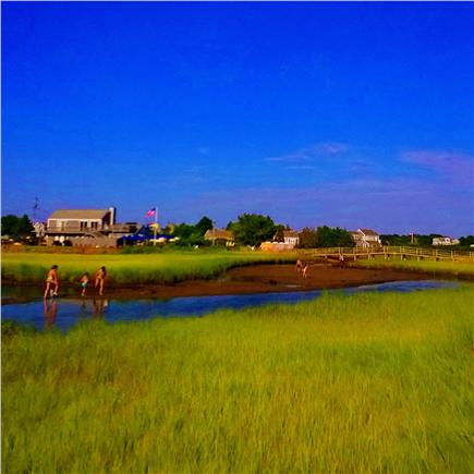 South Chatham Cape Cod vacation rental - Ridgevale Beach Creek with snack bar- boat rental in background