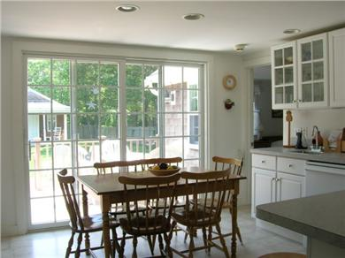 West Harwich Cape Cod vacation rental - Eat in Kitchen Table with 2 leaves seats 8-10