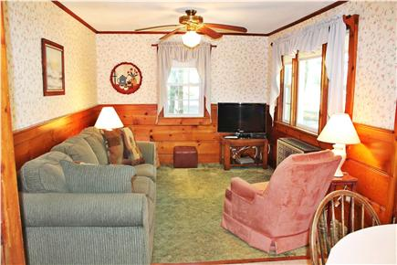 Chatham Cape Cod vacation rental - Family room with flat screen cable TV and ceiling fan