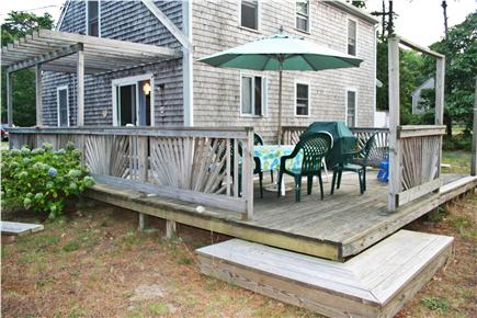 Eastham Cape Cod vacation rental - Deck which offers table, chairs, umbrella and gas grill