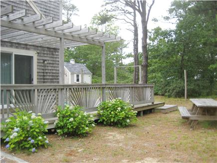 Eastham Cape Cod vacation rental - Deck off the kitchen with large picnic table!