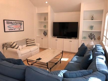 New Seabury, Mashpee, Poppones Cape Cod vacation rental - Great room:  65 inch smart TV and Sonos Playbar