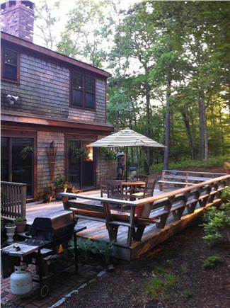 Brewster Cape Cod vacation rental - Deck with wrap around benches