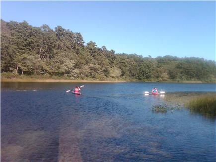 Brewster Cape Cod vacation rental - Kayaking on nearby Cliff Pond
