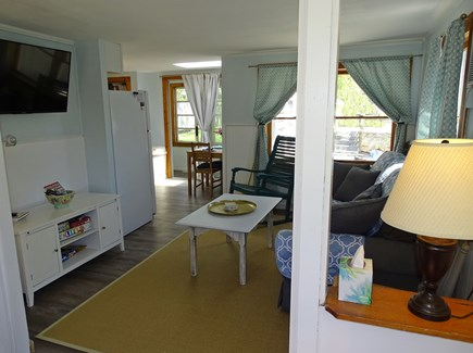West Yarmouth Cape Cod vacation rental - Living room with new flat screen TV, freshly painted and new flrs