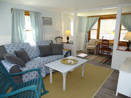 West Yarmouth Cape Cod vacation rental - Living rm w/new sleeper sofa, new floors & repainted, all in '18