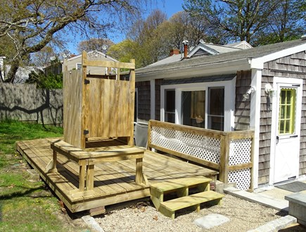 West Yarmouth Cape Cod vacation rental - Backyard area with outdoor shower