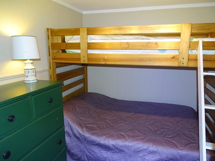 West Yarmouth Cape Cod vacation rental - Bunk beds with full on bottom and twin on top and new paint