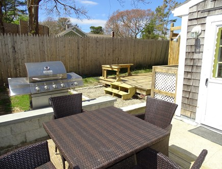 West Yarmouth Cape Cod vacation rental - Private deck with patio dining set and gas grill