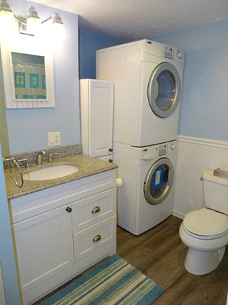 West Yarmouth Cape Cod vacation rental - Updated Bathroom with Washer & Dryer and updated floors in '18