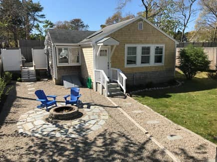 West Yarmouth Cape Cod vacation rental - Enjoy fire pit area after a short walk to the beach
