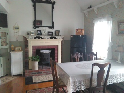 Bourne, Monument Beach Cape Cod vacation rental - Bright sunny, airy, Guest House dining with cathedral ceilings