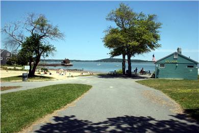 Kingston, Plymouth Area MA vacation rental - Entrance to Grays Beach park