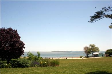 Kingston, Plymouth Area MA vacation rental - Beach with the Wildflower Grill in the distance