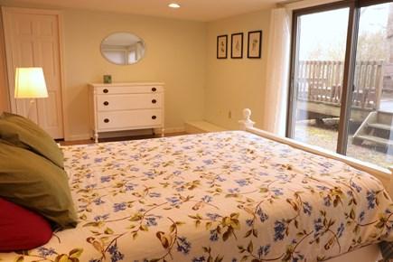 Orleans Cape Cod vacation rental - Queen bedroom, looking towards lower deck