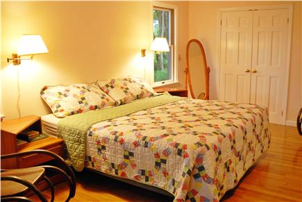 Orleans Cape Cod vacation rental - Big Master bedroom, King bed.  Sliding glass doors to porch.