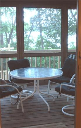 Orleans Cape Cod vacation rental - Screened-in porch from Master bedroom