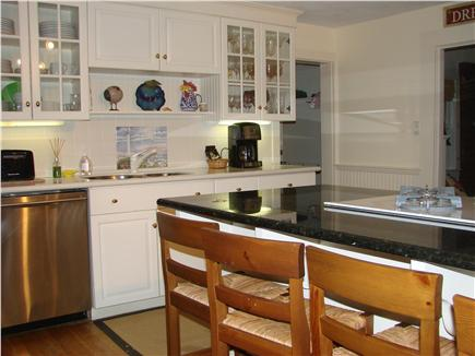 Barnstable Cape Cod vacation rental - Kitchen with granite countertops and high end appliances.