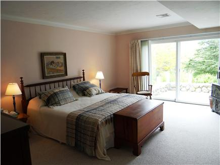 Falmouth, Woods Hole/Sippewissett/Gunnin Cape Cod vacation rental - The master bedroom with full bath opens directly to the patio
