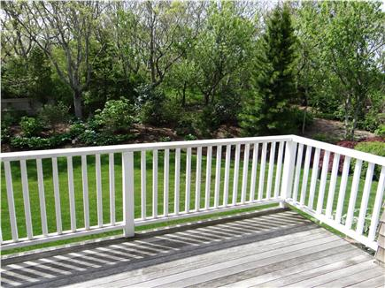 Falmouth, Woods Hole/Sippewissett/Gunnin Cape Cod vacation rental - View over the backyard from the rear entrance/deck