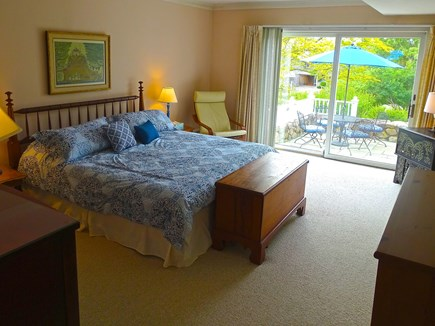 Falmouth, Woods Hole/Sippewissett/Gunnin Cape Cod vacation rental - The master bedroom/ensuite bathroom open directly to the patio
