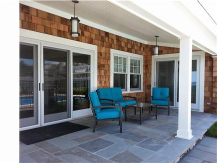 Sagamore Beach, Bourne Sagamore Beach vacation rental - Patio with Views of Cape Cod Bay
