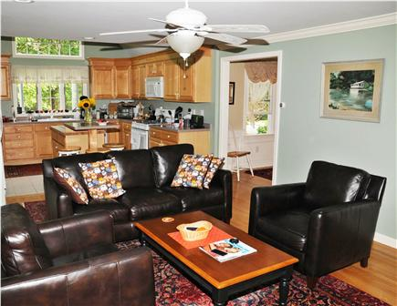 Dennis Village Cape Cod vacation rental - Large kitchen with attached sitting room with HD flat-screen TV