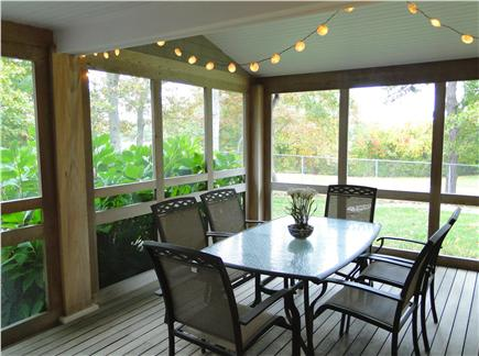 Hyannisport Cape Cod vacation rental - Screened in porch, overlooking back yard