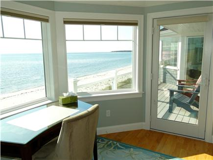 West Yarmouth Cape Cod vacation rental - Second floor queen and twin bedrooms share upper deck