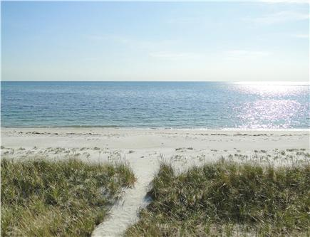 West Yarmouth Cape Cod vacation rental - Private path to beach, view from lower deck