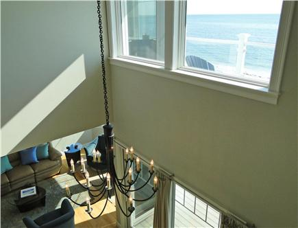 West Yarmouth Cape Cod vacation rental - View from upper floor – looking out to ocean, down to living room