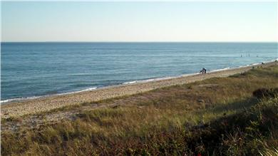 Mashpee Cape Cod vacation rental - View of semi-private beach to the right, just 400 feet away
