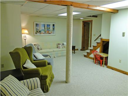 Brewster Cape Cod vacation rental - Large rec room in the basement - great for children and teens