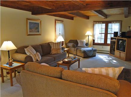 Brewster Cape Cod vacation rental - Spacious living area with lovely woodwork